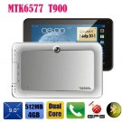 Tablet pc 9 inch phone call 3G WCDMA GPS Dual core MTK 6577 bluetooth