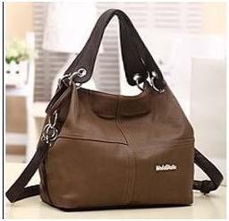 PU Leather bags women messenger bag grafting Vintage Shoulder Handbag Apricot