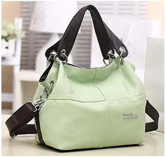 PU Leather bags women messenger bag grafting Vintage Shoulder Handbag Green