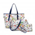 Womens PU Handbag Shoulder Bags Printing Three Bags Composite Bag Multicolor