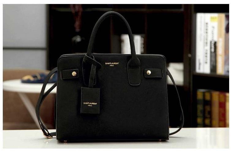 leather handbag single shoulder bag women messenger bag fashion black