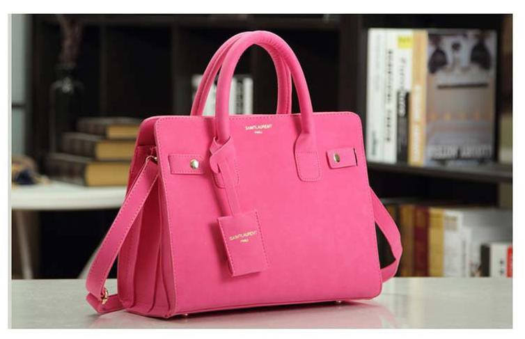 leather handbag single shoulder bag women messenger bag fashion Pink