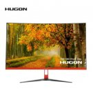 "HUGON 27 Inch 27"" LCD RED Curved Screen Monitor PC 75Hz 1920×1080p HD Gaming Display VGA HDMI"