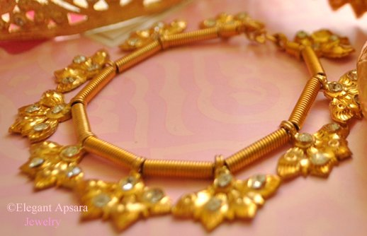 Khmer Gold Leaf Charm Bracelet Traditional Wedding Jewelry