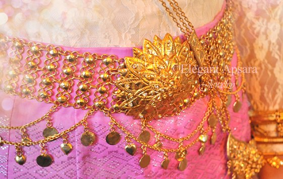 Khmer Cambodian Gold Wedding Jewelry Belt Rachana Khmer