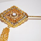 Khmer Cambodian Gold Hair Pin Acessories Wedding Engagement Handcrafted Dance or Wedding
