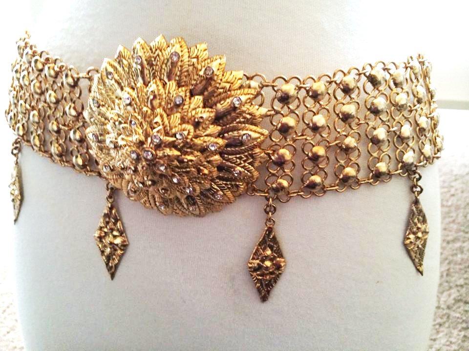 Khmer Cambodian Gold Wedding Jewelry Belt Rachana Khmer Boran Khsae Krovat Diamond Shape Style