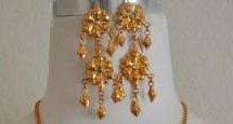 Khmer Cambodian Gold earrings Khmer Traditional Dance Wedding