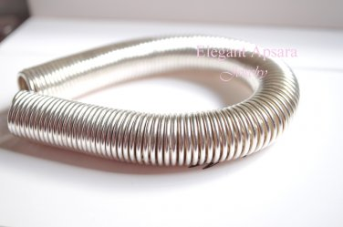 Khmer Silver Spiral Anklet Bangle Bracelet Ethic Traditional Wedding Jewelry Cambodian Tro Jerng
