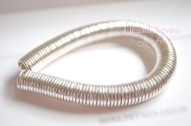 Khmer Gold Silver Spiral Bangle Bracelet Traditional Wedding Jewelry Cambodian Tro Dai