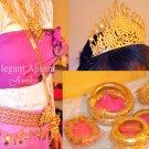 FULL SET Khmer Cambodian Rachana Tradition Wedding Jewelry