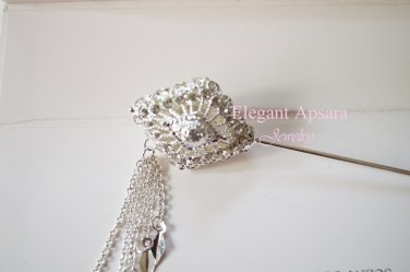 Khmer Cambodian Silver Hair Pin Acessories Wedding Engagement Handcrafted Dance or Wedding