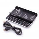Bluetooth Wireless Rechargeable Sliding Keyboard Case for iPhone 4 4G 4S Black