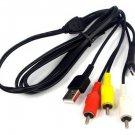 New USB+AV RCA Cable For Sony VMC-MD3 DSC-HX9 DSC-HX9V DSC-HX100 DSC-HX100V