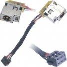 AC DC Power Jack Plug Socket Cable Harness for HP 14-c010us 14-c020us 14-c025us 14-c030us 14-c035us