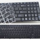 New US keyboard fit Asus 04GNV32KUI00-3 04GNV32KUI00-6 With Frame&Blue Icon