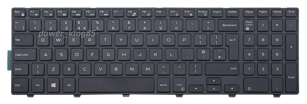 Original New BLK UK keyboard fit Dell Inspiron 17 5748 5749 5755 5758 5759 7557