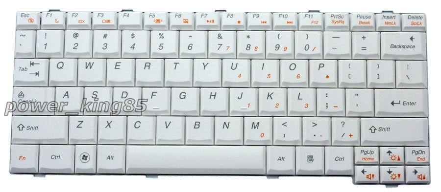 NEW US layout White Keyboard fit Lenovo 25-008421 25008421 MP-08K13US-686