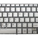 "New Silver keyboard 15.5"" without frame Fit SONY SVF15A17CXS SVF15A1ACXS"