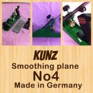 "Kunz Smoothing Plane No 4 "" Made In Germany """