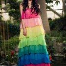 Rainbow Color Maxi Dress RM268
