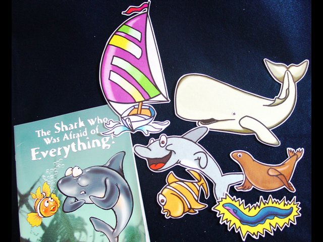 Shark who was Afraid of Everything 6pc Felt Story