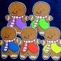 Five Little Gingerbread Men 5-pc Flannel Felt Story