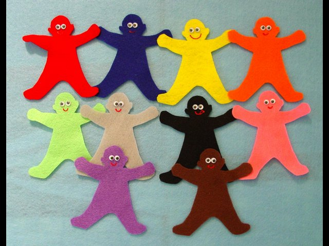 My Many Colored Days 10-pc Felt Little People