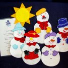 Five Little Snowmen 6 pc Flannel Felt Story + rhyme