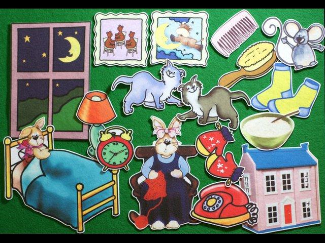 Goodnight Moon 17-pc flannel felt story