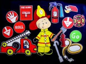 Fire Fighter Gets Dressed 21-pc Felt Set