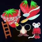 Little Mouse Red Ripe Strawberry Big Hungry Bear 10-pc Felt Story