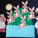 Five Little Bunnies Hopping on a Hill Felt Story