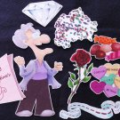 An Old Lady who Swallowed A Rose 8-pc Felt Story