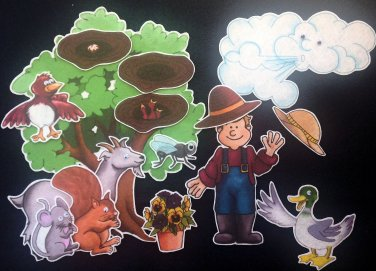 Who Took the Farmer's Hat 15 pc felt set