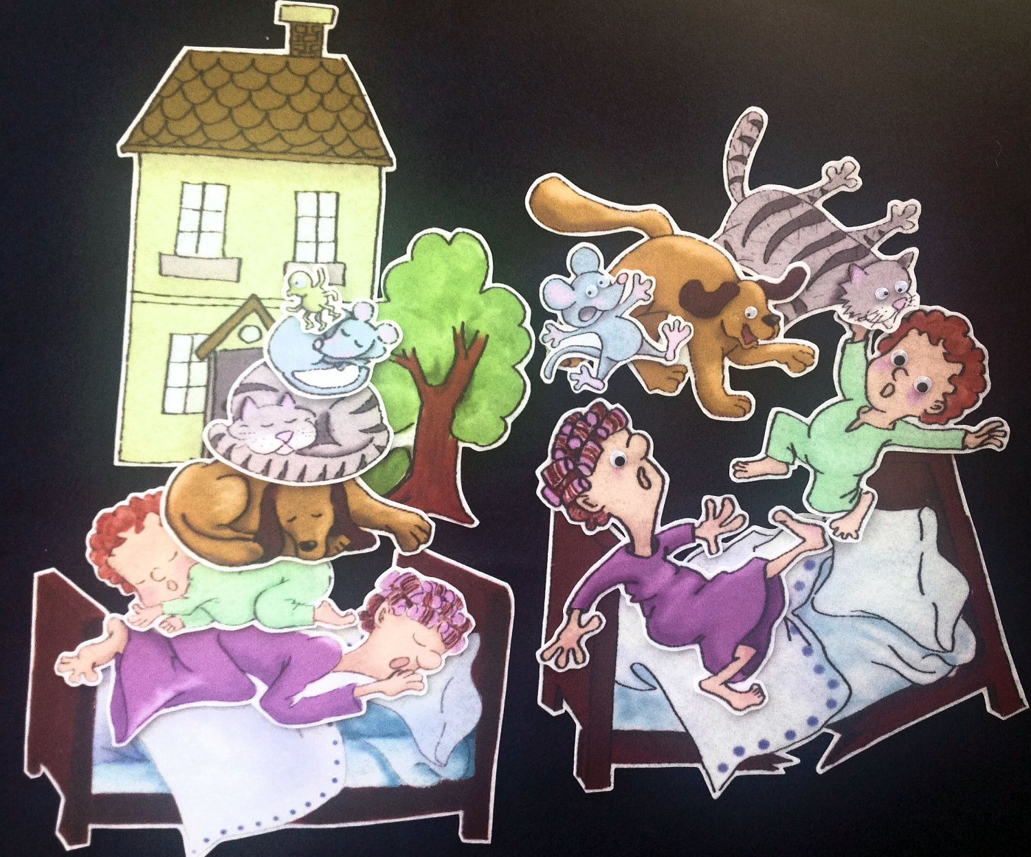 The Napping House 14 Pc Felt Story