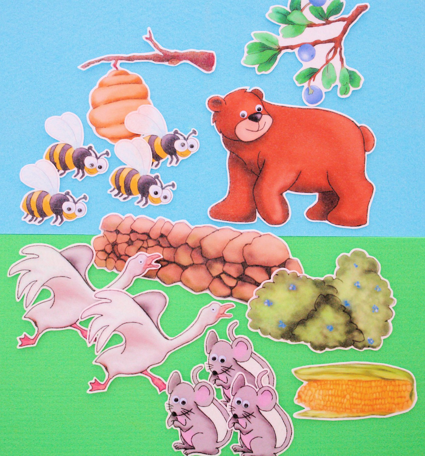 Where There is a Bear, There's Trouble 16-pc Flannel Felt Story