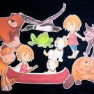 One Dog Canoe 9-pc Flannel Board Felt Story