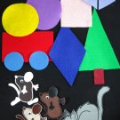 Mouse Shape 21-pc Flannel Board Felt