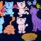 Three Little Kittens 14-pc Flannel Felt Story