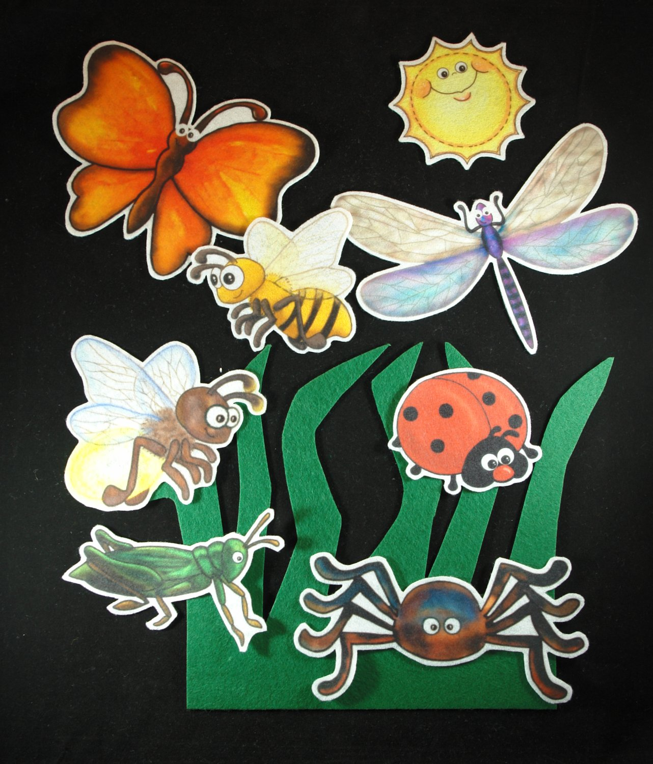We're Going on a Bug Hunt 9-pc Flannel Felt Story