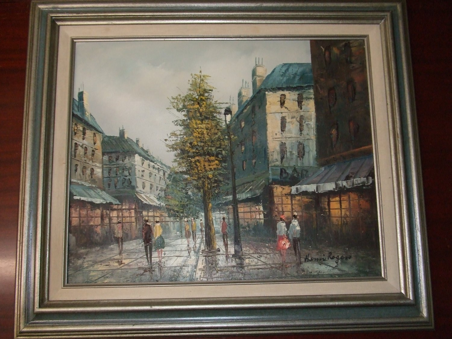 Paris Montmartre City Street Oil Painting Artist Henri