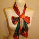 LONG  Tie Dye style scarf or belt - 1960's