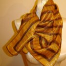 1970's VERA orange and brown Scarf