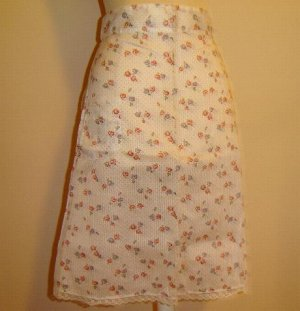1950's Dotted Swiss Type Vintage Apron