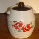 1930's RED WING Stonewear Beehive Cookie Jar - Original painting