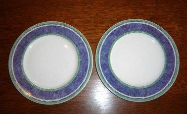 (2) Villeroy & Boch AUCTION -Switch 3 - COSTA Blue Bread Plates