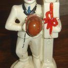 "RRP Roseville ""Man Comes A-Calling"" VASE - RARE - and cute"