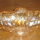 ORIGINAL Jeannette Gondola Console Bowl - Amber Carnival Glass