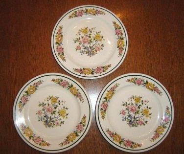 "THREE (3) Homer Laughlin bread plates or saucers - 6 1/4"" - Look unused!"